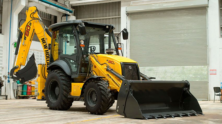 Российская премьера New Holland B80B